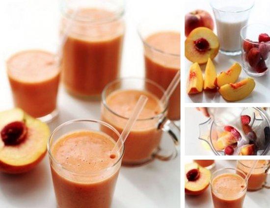 Персиково-ягодный коктейль