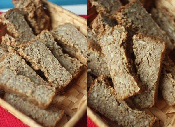 Полезный хлеб с овсяными хлопьями