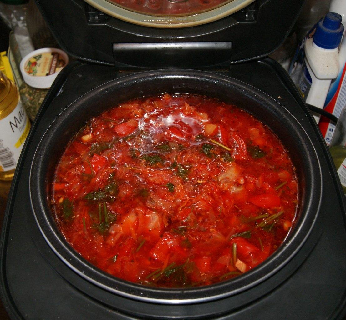 Красный борщ в мультиварке рецепты пошагово