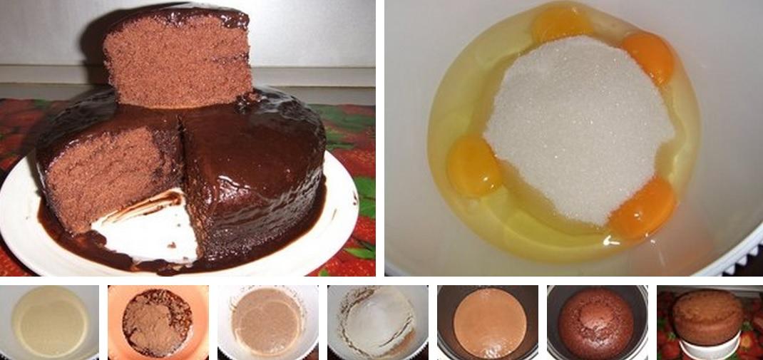 Шоколадное кухэ в мультиварке рецепт с фото