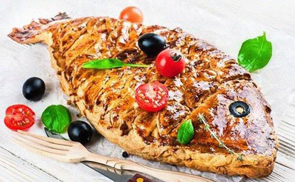 Ржаной пирог с рыбой