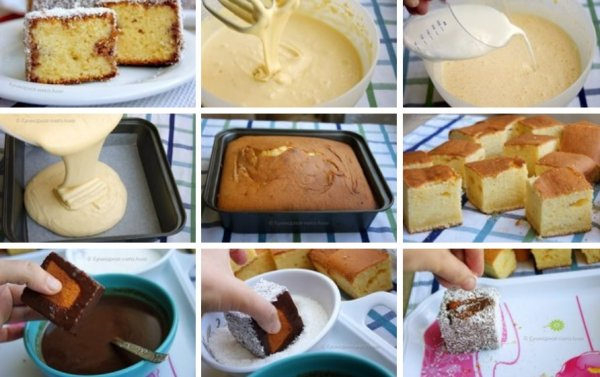 Как сделать бисквитное пирожное 632